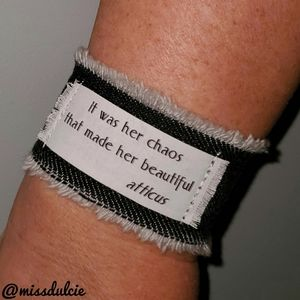 Beauty Quote Bracelet Cuff Atticus Finch Literary